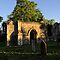 Twilight in the church Yard   Ruins by Karen  Betts