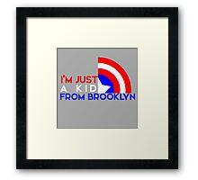 Just a Kid From Brooklyn Framed Print