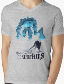 Black Iron Tarkus Mens V-Neck T-Shirt
