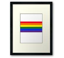 Rainbow flag Framed Print