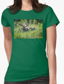 Smiling Bull Moose Womens Fitted T-Shirt