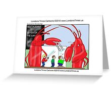 Lobster Catch Of The Day by Londons Times Cartoons Greeting Card
