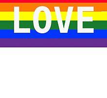 Love pride flag by jvandoninck
