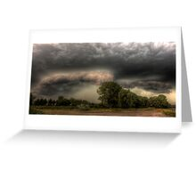 Insane storm over Nuenen, the Netherlands Greeting Card