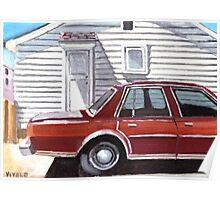 Back yard parking Poster