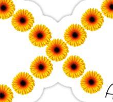 Alpha Phi Flower Infinity Sticker