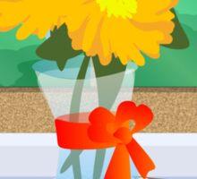 Flowers by a Window Sticker