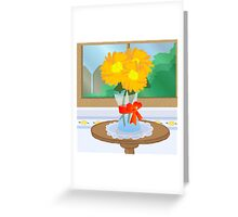 Flowers by a Window Greeting Card