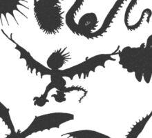 Dragon Silhouette Tee  Sticker