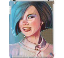 Blue hair. iPad Case/Skin