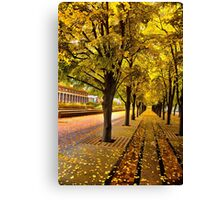 Boston, fall mood Canvas Print