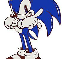 Minimalist Modern Sonic by 4xUlt
