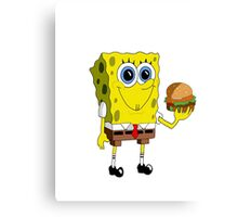 Sponge Bob - Krabby Patty Canvas Print