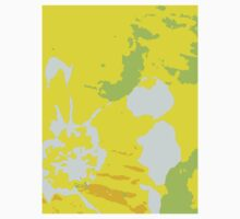 Fresh Yellow Abstract Background Baby Tee