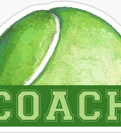 Tennis Coach Sticker