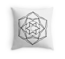 Mandala Style Design With Moon Throw Pillow