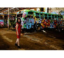 Another One Rides The Bus / Glebe Tram Yard Series Photographic Print