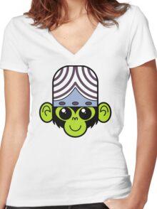 Cute Mojo Jojo Women's Fitted V-Neck T-Shirt