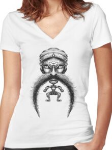 Le Mo Women's Fitted V-Neck T-Shirt