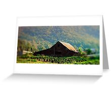 Barn in the Mountians Greeting Card