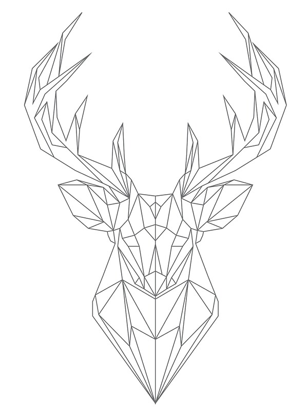 Quot Geometric Buck Deer Head Quot Stickers By Hellomalcolm