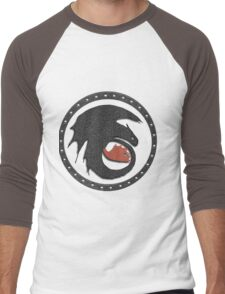 Night Fury Symbol Tee (How To Train Your Dragon Men's Baseball ¾ T-Shirt