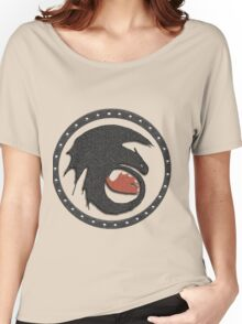 Night Fury Symbol Tee (How To Train Your Dragon Women's Relaxed Fit T-Shirt