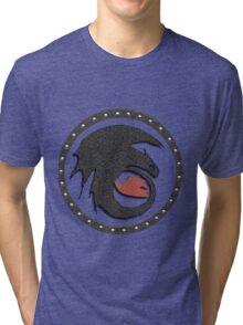 Night Fury Symbol Tee (How To Train Your Dragon Tri-blend T-Shirt