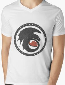 Night Fury Symbol Tee (How To Train Your Dragon Mens V-Neck T-Shirt