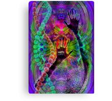 Evolutionary snake charmer   Canvas Print