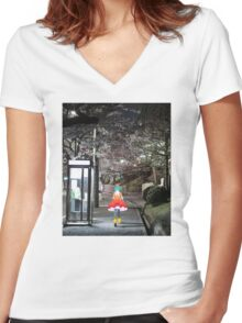 Monogatari – Doll Walk Women's Fitted V-Neck T-Shirt