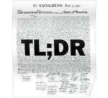 TL;DR - Declaration of Independence Poster