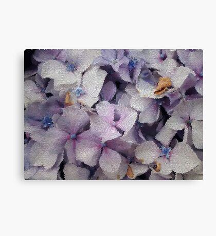 Hydrangeas in tiles  Canvas Print