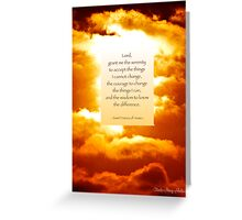 Lord, Grant Me The Serenity.. Greeting Card