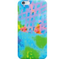 Abstract Blue Green Colorful Water Color Painting Background iPhone Case/Skin