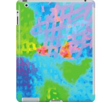 Abstract Blue Green Colorful Water Color Painting Background iPad Case/Skin