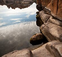 Watson Lake Reflection by rwilks