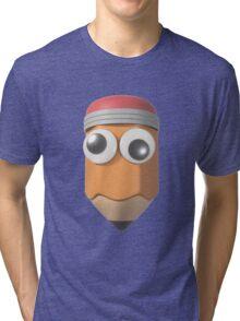 Googly-Eyed Pencil Tri-blend T-Shirt