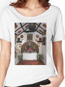 Inside St. Gobban's Church, Portbradden,Co Antrim Coast, Ireland Women's Relaxed Fit T-Shirt