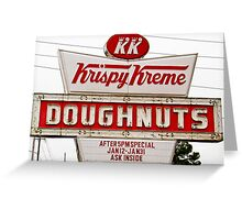 krispy kreme Greeting Card