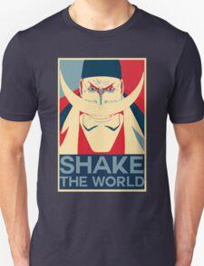 """Edward """"Whitebeard"""" Newgate: """"Shake the World"""" Design Unisex T-Shirt"""