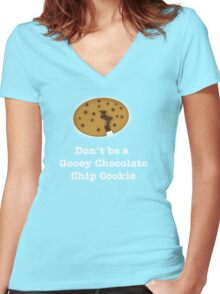 Gooey Chocolate Chip Cookie Women's Fitted V-Neck T-Shirt
