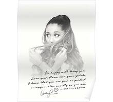 Ariana Grande Motivational Vintage T-Shirt Poster