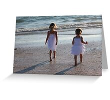 When sisters stand shoulder to shoulder, who stands a chance against us?  Greeting Card