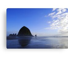 Low Tide at Haystack Rock Canvas Print