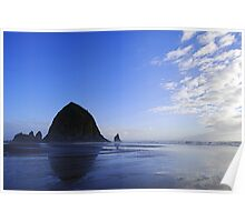 Low Tide at Haystack Rock Poster