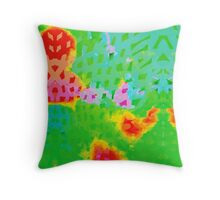 Colorful Abstract Watercolor Painting Background Throw Pillow