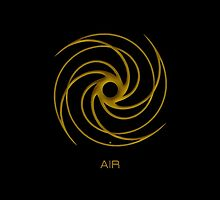 Astrology Symbol For Air by Vy Solomatenko