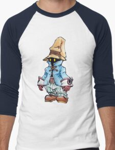 Final Fantasy 9 Vivi in Pastel &Colour Pencil Men's Baseball ¾ T-Shirt