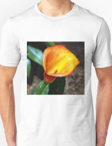 Blooming Orange Calla Lilly in the Garden T-Shirt